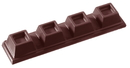 Chocolate World CW2095 Chocolate mould bar 4 cubes 20 gr