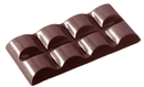 Chocolate World CW2100 Chocolate mould tablet 2x4 rounded 38 gr