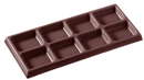 Chocolate World CW2107 Chocolate mould tablet 2x4 arcering