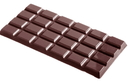Chocolate World CW2110 Chocolate mould tablet 4x6 rectangle