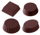 Chocolate World CW2112 Chocolate mould petit four cup 4 fig