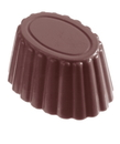 Chocolate World CW2131 Chocolate mould cuvette oval