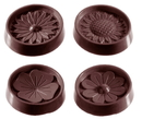 Chocolate World CW2146 Chocolate mould flowercaraque 4 fig
