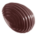 Chocolate World CW2203 Chocolate mould striped egg 32 mm
