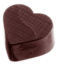 Chocolate World CW2245 Chocolate mould heart checkered