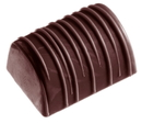 Chocolate World CW2247 Chocolate mould buche with stripes