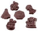 Chocolate World CW2260 Chocolate mould caraque christmas garnish 6 fig.