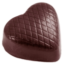 Chocolate World CW2320 Chocolate mould checkered heart
