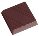 Chocolate World CW2356 Chocolate mould square with lines
