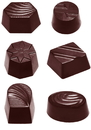Chocolate World CW2371 Chocolate mould assortment small 6 fig