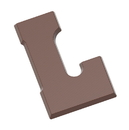 Chocolate World CW2411 Chocolate mould letter L 135 gr