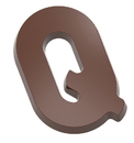 Chocolate World CW2416 Chocolate mould letter Q 135 gr