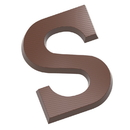 Chocolate World CW2418 Chocolate mould letter S 135 gr