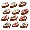 Chocolate World L011774 Transfers Tekstballon