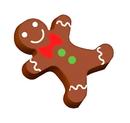 Chocolate World L014223 Transferts Gingerbread man voor 1000L33