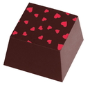 Chocolate World L3003 Transfers Heart Red