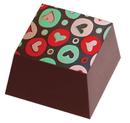 Chocolate World L6184TV3 Transfers Colored Hearts
