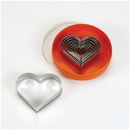 Chocolate World S02007 Set of pastry cutters heart
