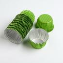 Chocolate World VC0104 Aluminium cups green (1250 pcs)