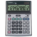 Canon Bs-1200Ts - Desktop Calculator - 12 Digits - Solar Panel, Battery - Metallic, CNMBS1200TS