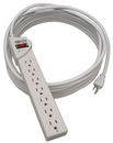 Tripp Lite Protect It 7-Outlet Surge Protector, 25 Ft. Cord, 1080 Joules, Diagnostic Led, Light Gray Housing Surge Protector - 15 A - Ac 120 V - 1800 Watt - Output Connectors: 7 - 25 Ft - Light Gray
