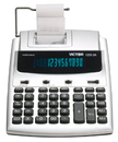 Victor 1225-3A - Printing Calculator - Vfd - 12 Digits - Ac Adapter - Black, Silver, VCT1225-3A