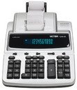 Victor 1240-3A - Printing Calculator - Vfd - 12 Digits - Ac Adapter - Black, Silver, VCT1240-3A