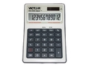 Victor Tuffcalc 99901 - Desktop Calculator - 12 Digits - Solar Panel, Battery - Black, White, VCT99901