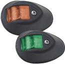 Perko LED Sidelights - Red/Green - 12V - Black Housing