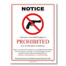 ComplyRight E8077NE Weapons Law Poster - Nebraska
