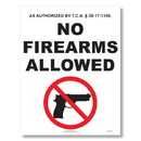 ComplyRight E8077TN Weapons Law Poster - Tennessee