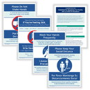 ComplyRight N0123 Social Distancing And Hygiene - Facility Signage Bundle, 8.5