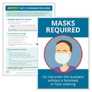 ComplyRight N0187 Face Coverings Required And Masks Required Poster Set, 10