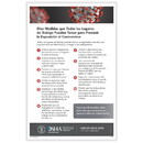 ComplyRight W0030 Osha - (Spanish) Reduce Risk Of Covid-19 Exposure In Workplace Poster