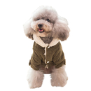 Windproof Pet Clothing, Warm Dog Apparel Sweater for Small Medium Size Dogs/Cats, Woolen Hoodies Girl/Boy