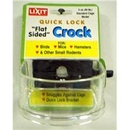 Lixit QLC-3 Flat Sided Lock-on Crock 3oz