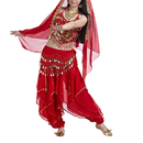 BellyLady Belly Dance Hip Scarf with Gold Coins Performance Outfits Skirt