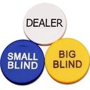 GOGO Set of 3 Small Blind, Big Blind and Dealer Poker Buttons