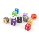 GOGO 100 PCS Numeral Dice / Numbered Dice / Math Dice, 16mm