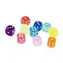GOGO 100 PCS Acrylic Translucent Dices Nice Colors
