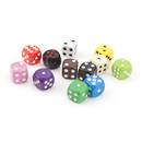 GOGO 100 PCS Acrylic Round Cornered Dices, Game Dice