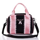 TOPTIE Girl's Cute Dance Bag with Lace Decoration, Sports Gym Bag