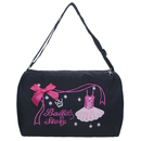 TOPTIE Girl's Dance Duffle Bag with Ballet Dress Embroidered