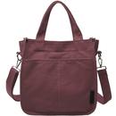 TOPTIE Canvas Tote Handbag with External Pocket and Zipper, Crossbody Shoulder Bag, Daily Essentials