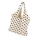 TOPTIE Polka Dots Canvas Shoulder Bag 18 X 16 Inches, Casual Daily Handbag Reusable Shopping Bag