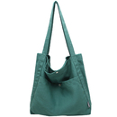 TOPTIE Soft Canvas Tote Shoulder Bag for Women, Casual Handbag Purse with Pocket for Work, Shopping, Travel