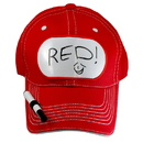 Billy Bob Teeth 14394 Dry Erase Billboard Cap - Red