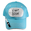 Billy Bob Teeth 14398 Dry Erase Billboard Cap - Lt. Blue