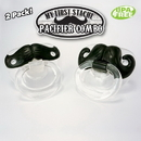 Billy Bob Teeth 50755 Mustache Pacifier 2- Pack