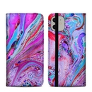 DecalGirl A11FC-MARBLEDLUSTRE Apple iPhone 11 Folio Case - Marbled Lustre